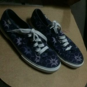 Coach purple and navy sneakers women's